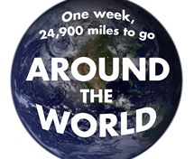Children will collectively walk the 24,900 miles which make up the circumference of the earth