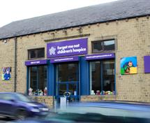 Front of the Forget Me Not charity Superstore in Huddersfield