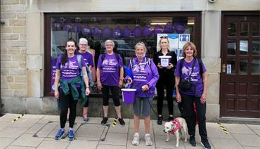 A group of supporters on a charity walk